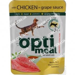Optimeal Курица в виноградном соусе консервы для кошек 85 г