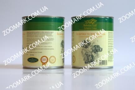 Hubertus Gold Индейка/Лапша консервы для собак 800 г