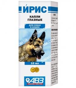 Ирис капли глазные АВЗ для собак и кошек 10мл