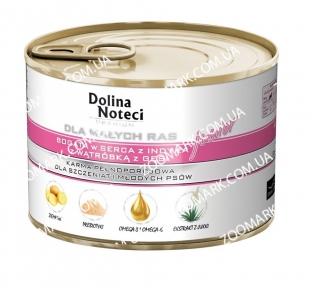 Dolina Noteci Premium Dog сердце индейки и гусиная печень для щенков и юниоров мелких пород 185 г