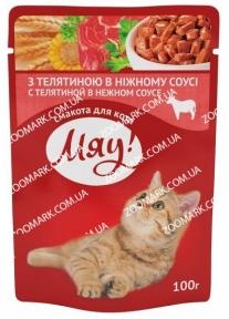 Мяу Телятина консервы для кошек  100 г