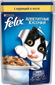 Felix (Феликс) консервы для кошек курица в желе