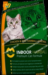 Milana Indoor Hairball с курицей и рисом сухой корм для кошек