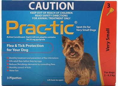Novartis   ПРАК-ТИК (Prac-tic) - капли от блох и клещей для собак, 3 пип.