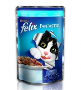 Felix (Феликс) консервы для кошек треска в желе