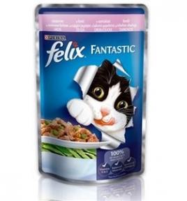 Felix (Феликс) консервы для кошек форель с зелеными бобами в желе