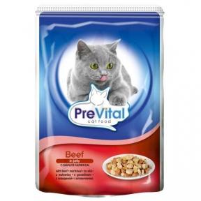 PreVital  говядина в желе консервы для кошек  100г