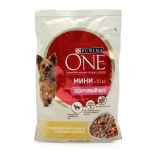 Purina One Mini консервы для собак с индейкой и морковью 100 г