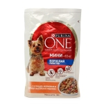Purina One Mini консервы для собак с курицей и морковью 100 г